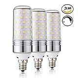 Leools Dimmable E12 LED Bulbs, 15W LED Candelabra Bulb 100 Watt Equivalent, 1000lm, Decorative Candle Base E12 LED Chandelier Bulbs, Daylight White 5000K