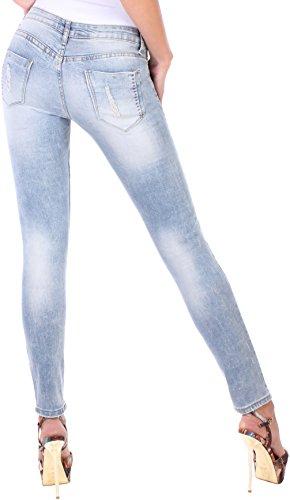 Black Denim - Vaqueros - skinny - para mujer Azul