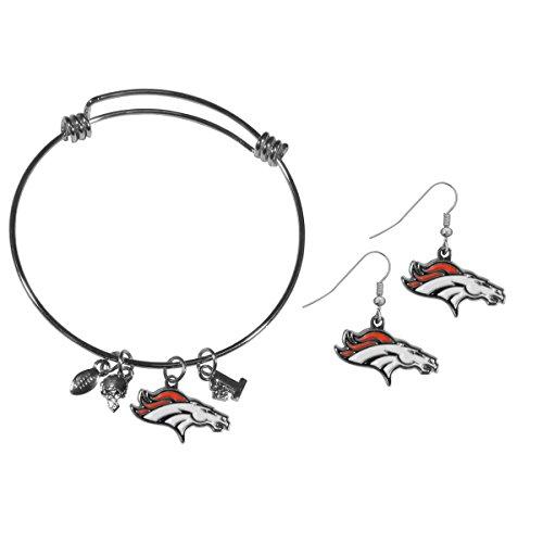 Siskiyou NFL Denver Broncos Dangle Earrings & Charm Bangle Bracelet Set - Denver Broncos Charm