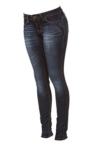 lus Size Skinny Butt Shaping Low Rise Cute Sexy Dark Blue Washes, Midnight 16W ()