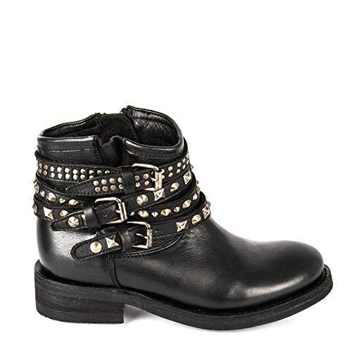 Donna Da Con Borchie Footwear Nero Motociclista Stivali Ash Tatum aqA7fXRw