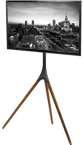 VIVO Artistic Easel 45 to 65 inch LED LCD Screen | Studio TV Display Stand | Adjustable TV Mount with Swivel and Tripod Base (STAND-TV65A) (Flat Stands Wooden Screen Tv)