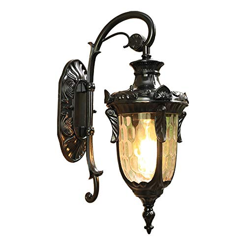 Exterior Wall Lantern 1-Light, Simple European Villa Outdoor Waterproof Wall Sconce Lights Down Aluminum Home Outside Wall Lamp Classic Art Entrance Park Wall Hanging Fixtures with E27 Fitting