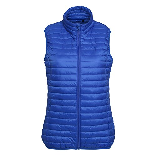 2786 Women's Full Zip Lightweight Padded Tribe Fineline Quilted Gilets XS-2XL Royal