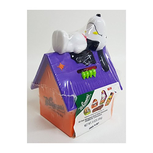 Peanuts Whitman's Halloween Count Dracula Snoopy Haunted House Coin Bank w/Chocolate Peanuts Characters Candy 3 oz. - Collector Item (Peanut Coin Bank)
