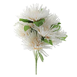 Fityle Simulation Silk Chrysanthemum Bouquet for Home Table Decor Grave Cemetery Flowers 6