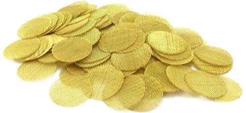 ABG 1/2-Inch Brass Tobacco Pipe Screens (Pack of ()