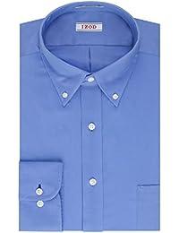 Men's Twill Regular Fit Solid Button Down Collar Dress Shirt