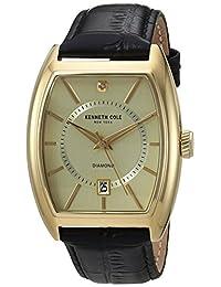 Kenneth Cole New York Men's 10030818 Genuine Diamond Analog Display Japanese Quartz Black Watch