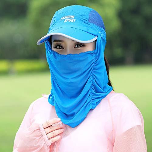 夏用レディース日焼け止め帽子日よけシェード付きアウトドアUVカットサンバイザー通気性や速乾性に優れたスポーツ野球帽