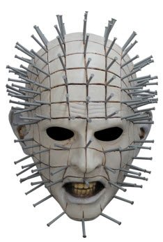 Pinhead Prop (Ghoulish Productions Men's Monster Horror Hellraiser III Pinhead Mask Halloween Costume Accessory)