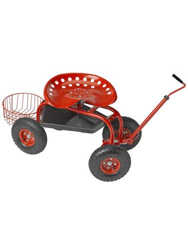 - Gardener's Supply Company Deluxe Tractor Scoot with Bucket Basket