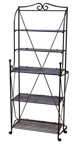 Pangaea Home and Garden Folding Baker's Rack, Black by Pangaea Home and Garden