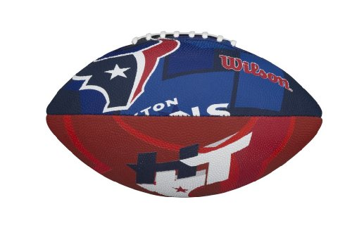 Wilson NFL Junior Team Logo Football (Houston Texans)