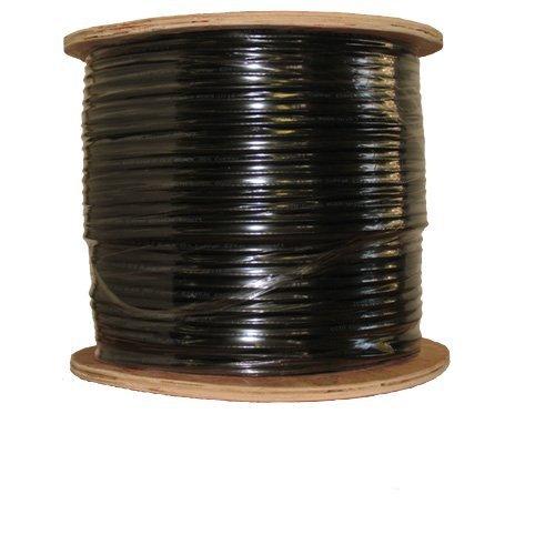 COAXIAL BLACK CABLE RG6 1000FT COAX CATV RG-6 1000' TV BULK Rg6 Black Cable Wire Coax