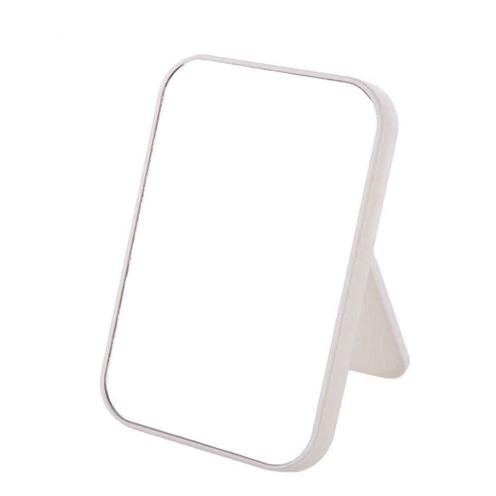 Bluelover Specchio Da Viaggio Specchietto Da Viaggio Pieghevole Specchio Da Tavolo Pieghevole Free Standing Rettangolare Da Trucco Specchio Da Appoggio Specchio Cosmetico In Plastica Da Appoggio - Rosa