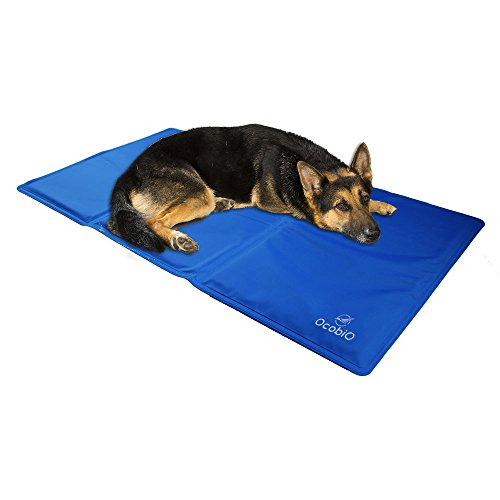 Cool Pet Beds (Ocobio Cold Gel Mat, Pet Self Comfort Cooling Pads For Dogs and Cats of Different Sizes - Perfect Cool Beds For Keeping Pets Cool - Ideal for cats and all Size dogs)
