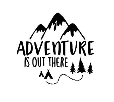 Adventure is Out There Travel Wanderlust Vinyl Decal Bumper Computer Sticker Cling