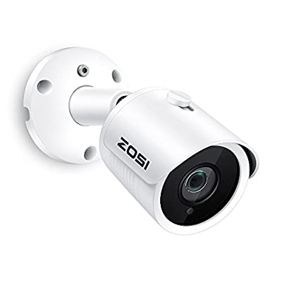ZOSI Full HD 2MP 1080P PoE Security Camera,1920X1080 Resolution,30M IR Night Vision,IP66 Weatherproof Outdoor Indoor Bullet IP Camera Surveillance System,Support Motion Detection and Remotely View by ZOSI