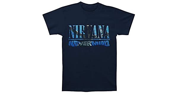 a2f0efeb Amazon.com: Nirvana Nevermind Album Playlist Men's T-Shirt: Clothing
