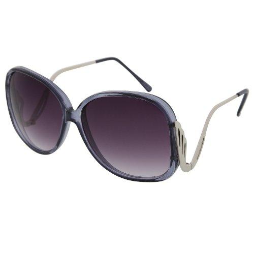Women's Large Oversized Square Drop Temple Swan Sunglasses Vintage Beauty - Sunglasses Swan