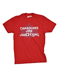 Mens Canadians Are EH Mazing Funny Canada Pride T shirt (Red) -M