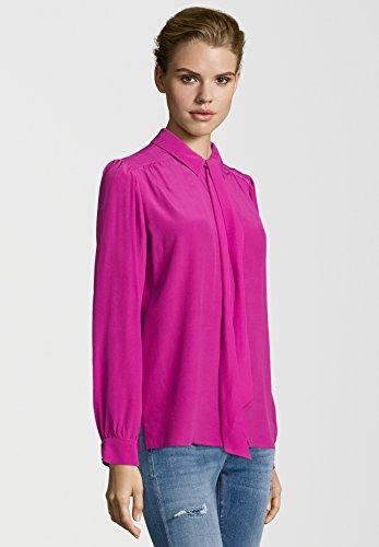 Mujer Rosa Camisas Básico Larga Cuello Manga Ala Para Set CBRUqn