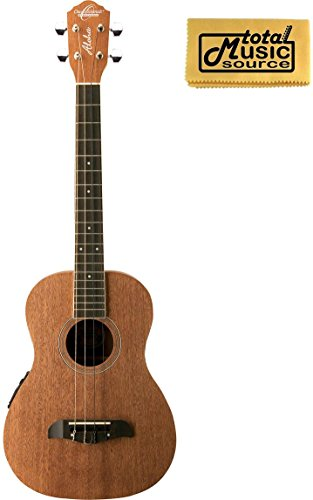 Oscar Schmidt OU52E Acoustic/Electric Baritone Ukulele w/ EQ, TMS Polishing Cloth, OU52E PC by Oscar Schmidt