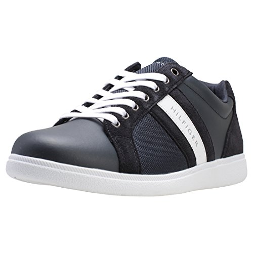 Blue Tommy Core Hilfiger Baskets Material Mix Hommes Cupsole w0fwxAr