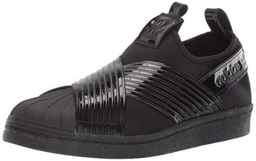 adidas Originals Women's Superstar Slip On Running Shoe, Black/Collegiate Purple, 9 M US ()
