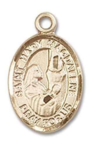 14 Karat Gold Saint Mary Magdalene Medal Petite Charm Pendant, 1/2 Inch ()
