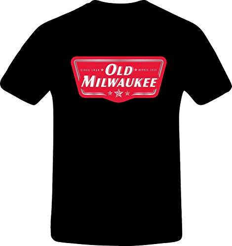 old-milwaukee-custom-tshirt-xl-black