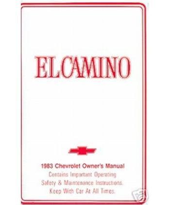 - 1983 CHEVROLET EL CAMINO Owners Manual User Guide