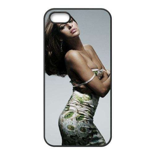 Eva Mendes Widescreen coque iPhone 5 5S cellulaire cas coque de téléphone cas téléphone cellulaire noir couvercle EOKXLLNCD23587