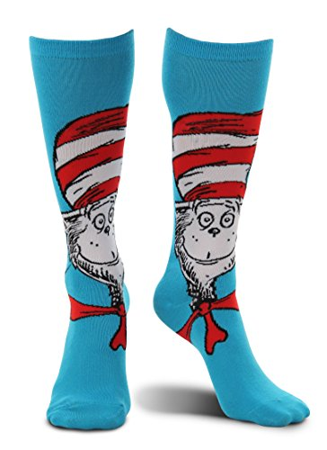 elope Dr. Seuss Cat in The Hat Knee High Costume Socks]()