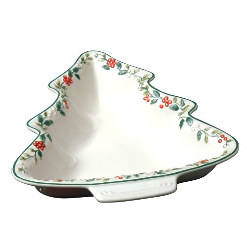 Pfaltzgraff Winterberry Tree Shaped Sculpted And Handpainted Serve Bowl