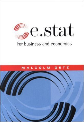 e.stat for business and economics by Malcolm Getz (2000-11-01)