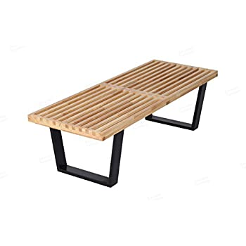 George Nelson Platform Bench In Natural Solid Wood (4 Feet)