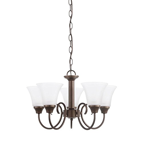 Sea Gull Lighting 31808EN3-827 Holman Chandelier, 5-Light LED 47.5 Total Watts, Bell Metal (Watt Bell Led)