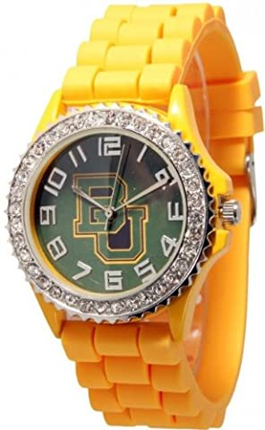 Baylor Bears Collegiate Rhinestone-accented Silicone Watch - Yellow (Baylor Watches)
