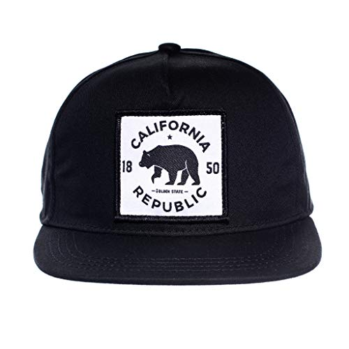 Baby Infant Hat Cap - Born to Love Baby Boy Infant Trucker Hat Snap Back Sun Mesh Baseball Cap (XS 43cm), Cali Black