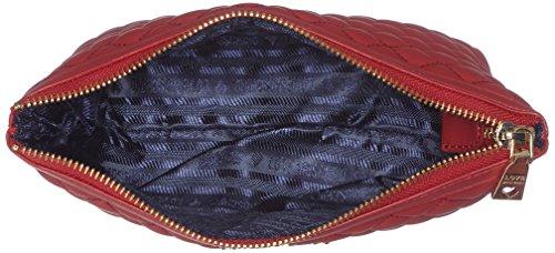 Love Moschino - Bustina Nappa Pu Trap.rosso, Carteras de mano con asa Mujer, Rot (Red), 13x25x7 cm (W x H D)