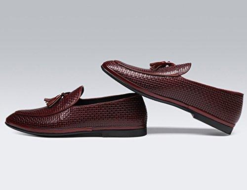 HWF Scarpe Uomo in Pelle Primavera scarpe da uomo in pelle scarpe casual nappa stile britannico lettino (Colore : Marrone, dimensioni : EU44/UK8.5) Marrone