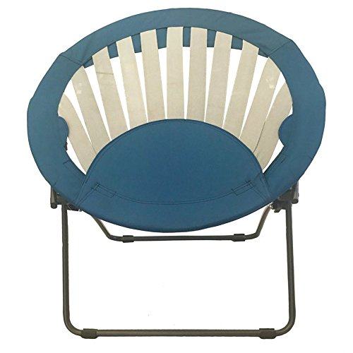 Impact Canopy 460030006-VC Round Sunrise Folding Bungee Chair, Navy Blue