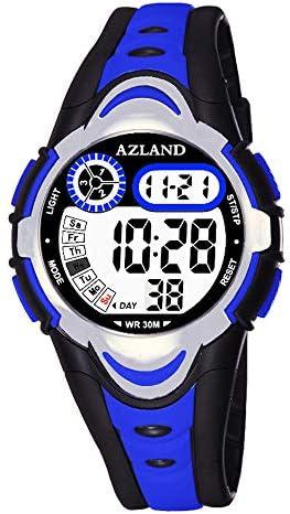 多機能アラーム 防水 キッズウォッチ ボーイズ ガールズ デジタル スポーツ ティーンエイジャー 腕時計 3 Alarms, for age 4-12 ブルー
