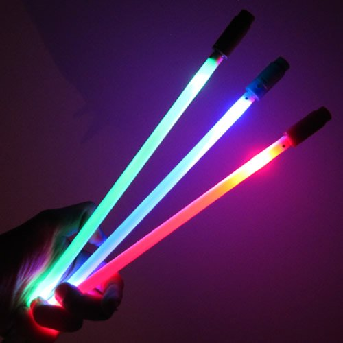 Glow Products Light Up LED Marker Ground Stakes (Set of 12) - LED Light Stick Markers (Assorted) ()