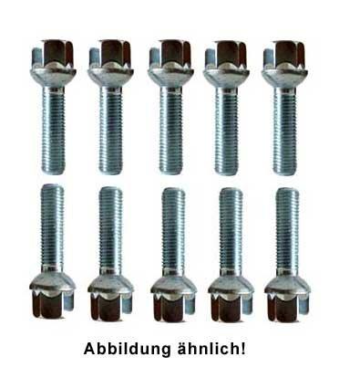 Dtsline Radschrauben Set 10 Stk M12x1 5 Kugelbund Radius R14 Länge 55mm Sw 17mm Gewerbe Industrie Wissenschaft