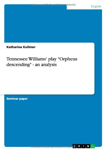 Tennessee Williams' play ''Orpheus descending'' - an analysis by Brand: GRIN Verlag GmbH