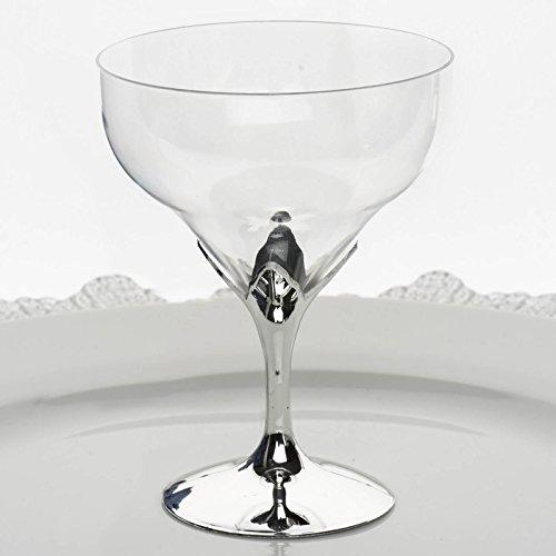 Efavormart 30 Pcs Disposable Clear Plastic Champagne (Plastic Wine Goblets)