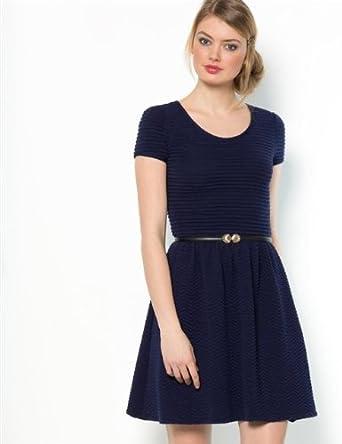 Mademoiselle R Robe Vetements Femme Bleu Bleu Marine Amazon Fr Vetements Et Accessoires
